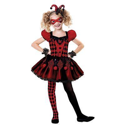 Girls Harlequin Cutie Costume Jester Girl Halloween Fancy Dress Outfit - Teenage Girl Halloween Outfits