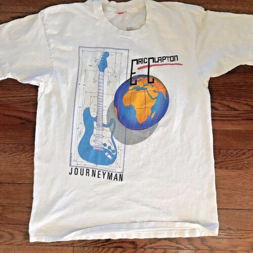 Eric Clapton Vintage Concert T-shirt 1990 Journeyman World Tour Authentic! XL
