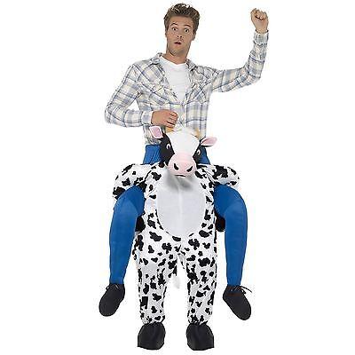 Erwachsene Groß Reite Bauer Kuh Bulle Maskenkostüm Anzug - Kuh Anzug Kostüme