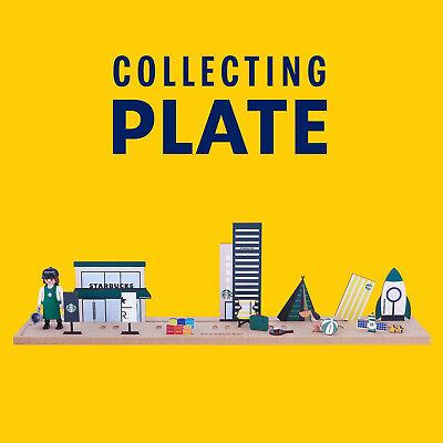 STARBUCKS KOREA X PLAYMOBIL Collecting Plate No Figure + Tracking