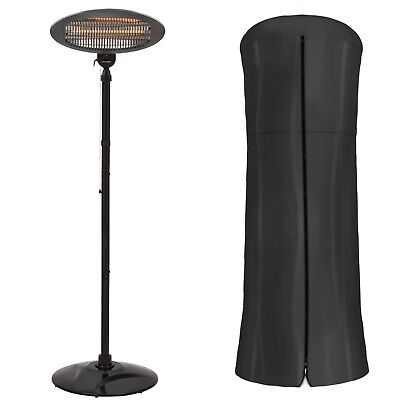 Garden Glow 2KW Electric Patio Heater Standing Party BBQ Outdoor Fire & Cover
