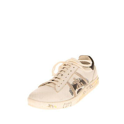 RRP €280 PREMIATA ANDY Leather Sneakers EU 41 UK 7 US 8 Patterned Outsole Logo