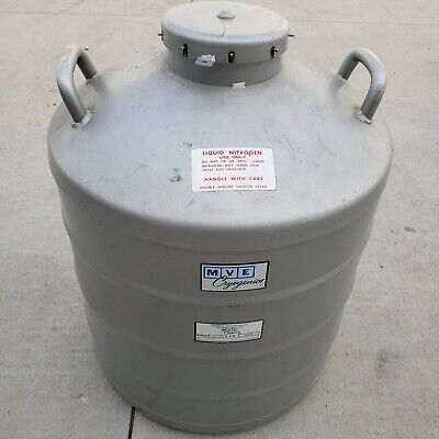 Mve Al-39 Cryogenic Liquid Nitrogen Storage Tank With Canisters 41 Liters
