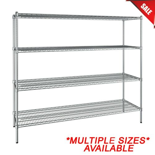 """""""ANY SIZE"""" Heavy Duty Chrome Metal Wire Shelf Rack Commercial Store Shelving NSF"""