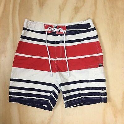 New J.Crew The Original Longboard Shorts Men's 32 Nautical Stripes Swim Trunks