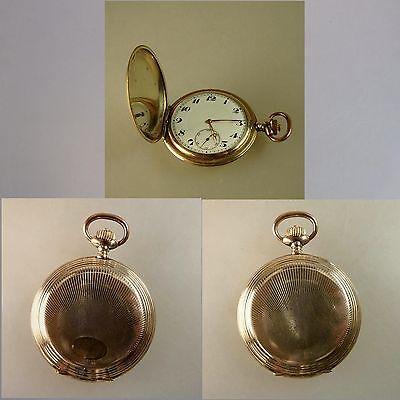 Savonette Herentaschenuhr Junghans Walzgold / Double um 1920 (43740)