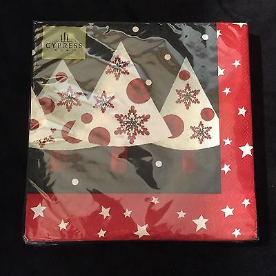 """NEW Cypress Home 20 Pack Christmas Luncheon Napkins """"Snow Much Love"""""""