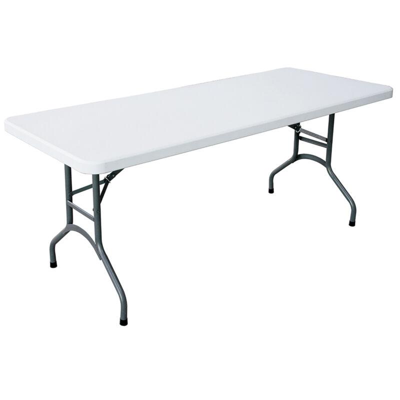 Plastic Development 706 Heavy Duty 6 Foot Straight Banquet Folding Table, White
