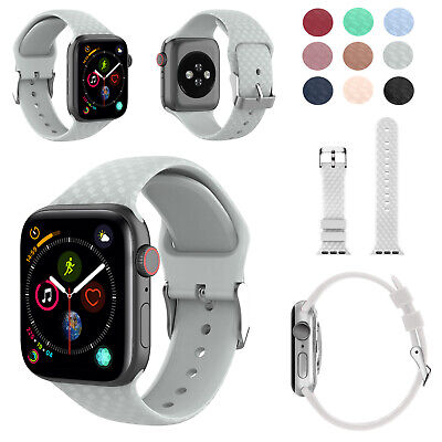 Replacement Woven Silicone Strap for Apple Watch Series 1 2 3 4 38mm to 42mm UK