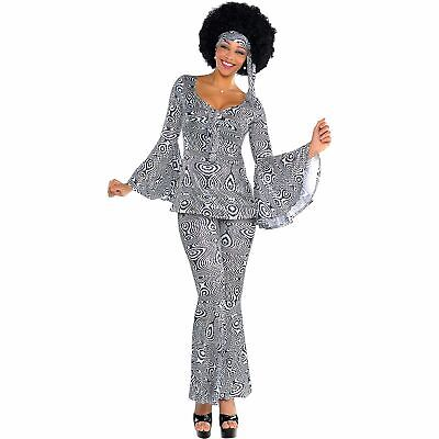 Dancing Queen Disco Costume for Adults, With Outfit and Scarf](Disco Outfit)
