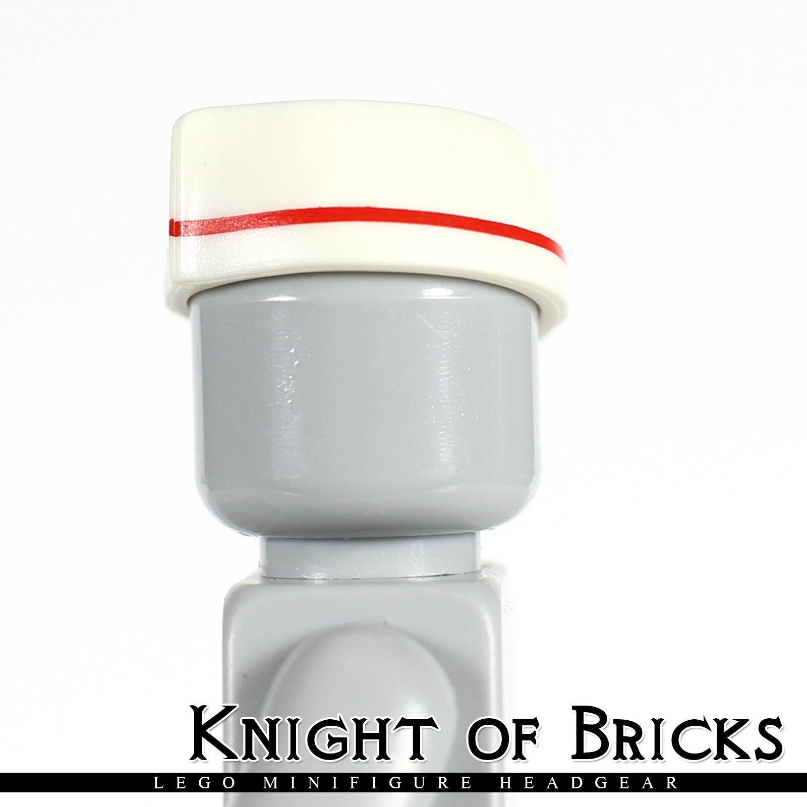 Lego 20 New White Minifigure Headgear Caps  Butcher Food Service Pieces