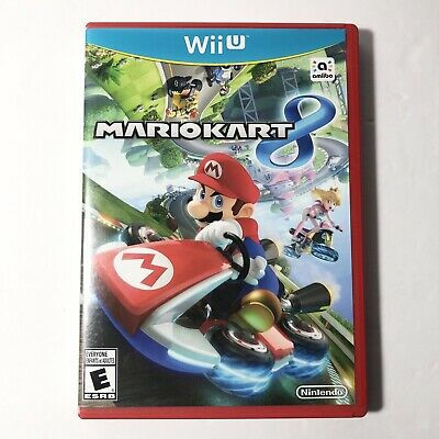 Mario Kart 8 (Nintendo Wii U, 2014) Great condition red case