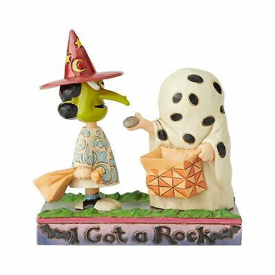 Charlie Brown Halloween I Got A Rock (Jim Shore 2019 PEANUTS CHARLIE BROWN & LUCY HALLOWEEN-I GOT A ROCK 6002775)