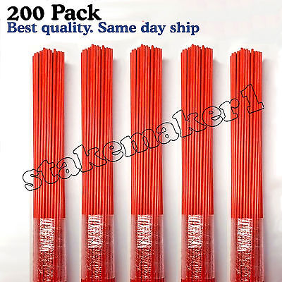 Driveway Markers Snow Stakes 200 Pack of 48 Inch Long Orange markers
