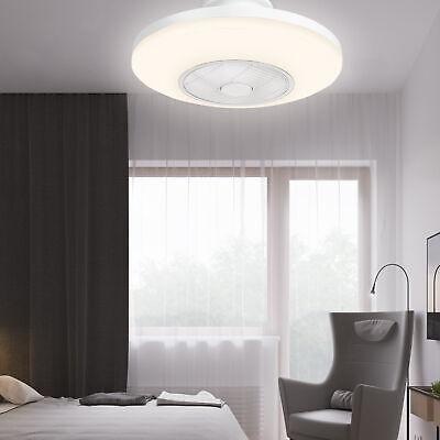 "20"" Ceiling Fan LED Light Remote Control 3 Color Change Round Chandelier Lamp"