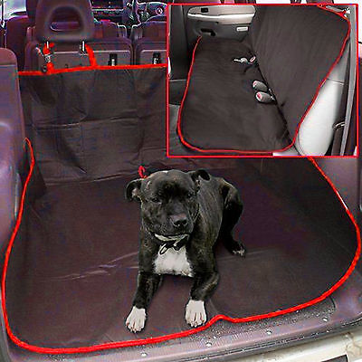 100% WATERPROOF CAR SEAT COVER REAR PET DOG PROTECTOR TRAVEL HAMMOCK MAT RED