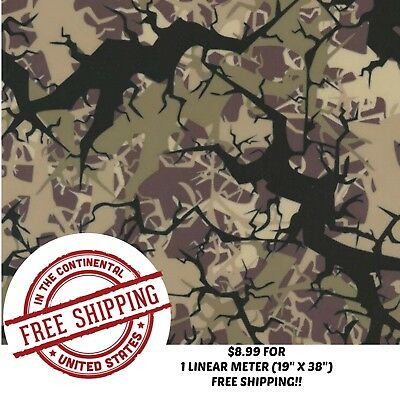 Hydrographic Water Transfer Hydro Dip Film Tree Army Camo 1m 19 X 38