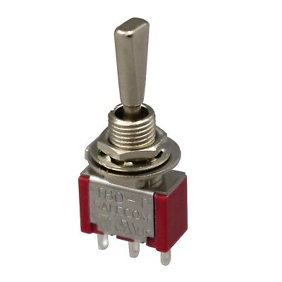 2pcs Sh Flat Handle T8014-uhbq On-off-on Maintained 3pin Spdt Mini Toggle Switch