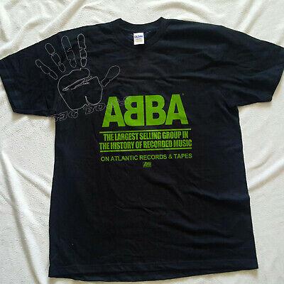 1970 T Shirt ABBA Atlantic Records 70's concert tour LESTER BANG GILDAN REPRINT