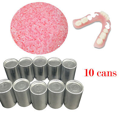 10canspack Dental Materials Denture Flexible Acrylic Without Blood Streak Small
