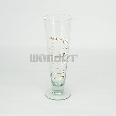 100ml Lab Glass Footed Apothecary Measuring Beaker Conical Graduated With Spout