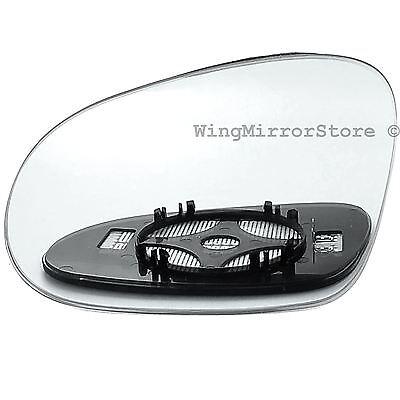 Left Passenger side Clip on heated wing door mirror glass for VW Golf mk5 03 08