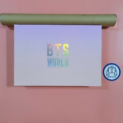 Bts World OST Limited Edition package with poster SUGA Photocard MINT rare oop
