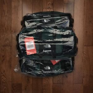 Supreme x TNF The North Face Leather Waist Bag Green