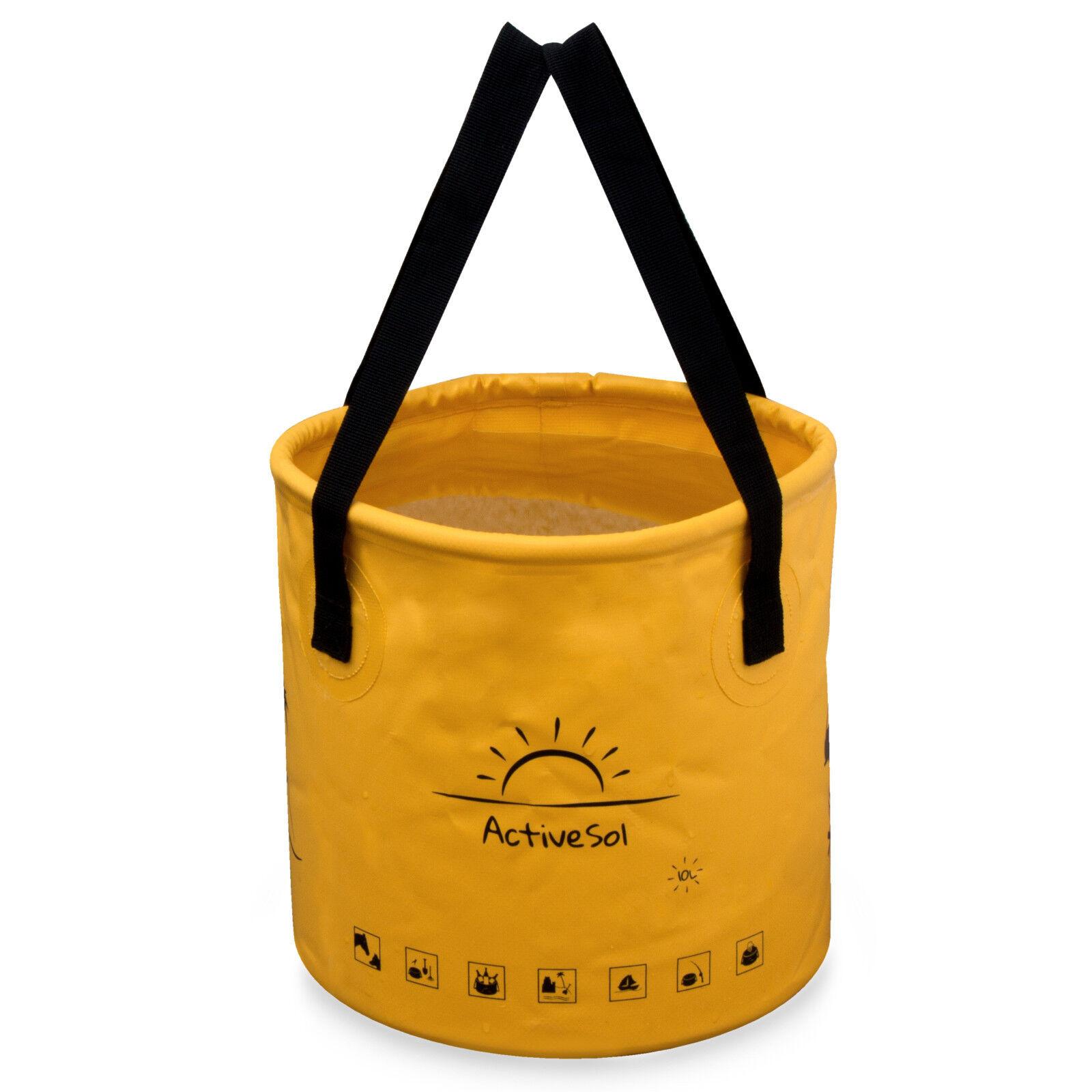 ActiveSol Falteimer | 10 Liter oder 20 Liter | Urlaub, Garten, Camping, Outdoor