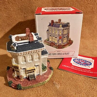 1993 Liberty Falls Collectible Ah43 Daily News Office   Plant The Americana Coll