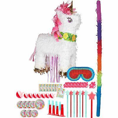 Girl Pinata (Sparking Unicorn Birthday Pinata Kit Bat Blindfold Favors Girls Fun Party)
