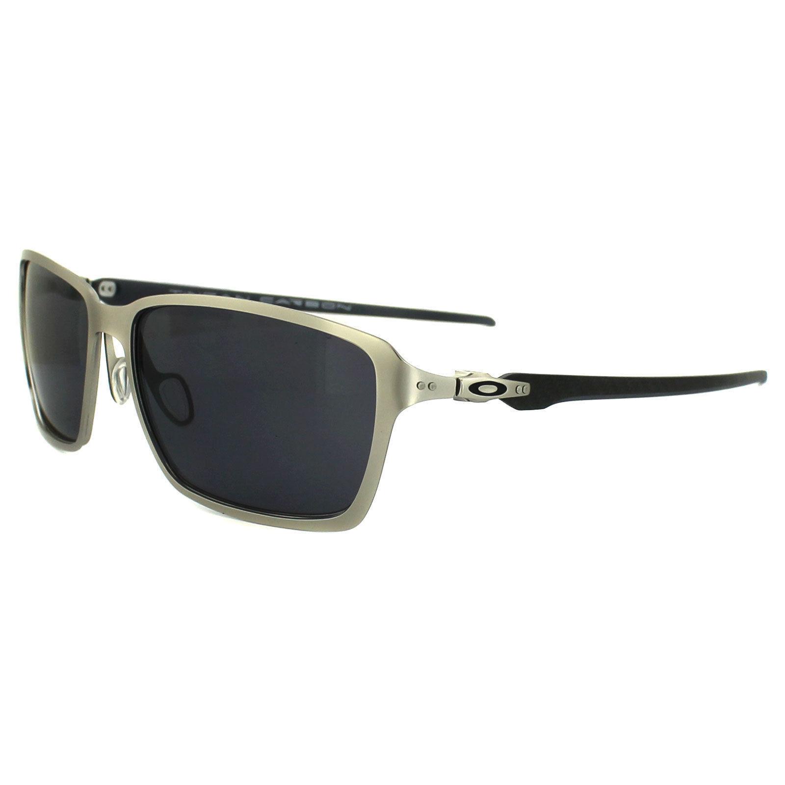 Oakley OO6017-01 Tincan Carbon Satin Chrome Sunglasses | eBay