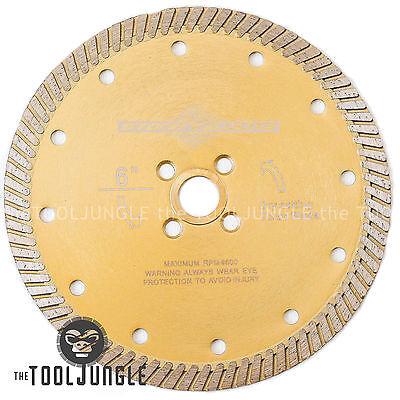 6 Inch  Diamond Turbo Saw Blade PREMIUM Granite, Concrete, Tile, Stone Fast Cut