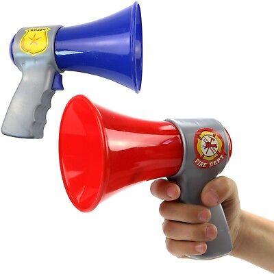 Feuerwehr / Polizei Megafon Lautsprecher mit Funktion Neu (Polizei Spielzeug Für Kinder)
