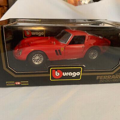 Bburago 1962 Ferrari 250 GTO Die Cast 1:18 Scale Model Classic RED