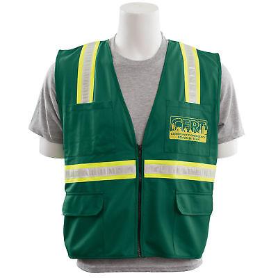 Erb Non-ansi Cert Surveyor Safety Vest Green