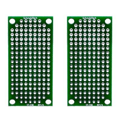 2 Pack Double Sided High Quality Pcb Proto Perf Board With Solder Mask 2x1