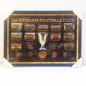 PROFESSIONALLY-FRAMED-HAWTHORN-FC-PREMIERSHIP-YEARS-LIMITED-EDITION-PRINT