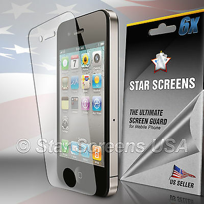 6 X Clear Film - 6x Ultra Clear HD Screen Protector Cover Film for Apple iPhone 4 4G 4S