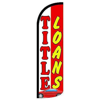 Title Loans Extra Wide Windless Swooper Flag