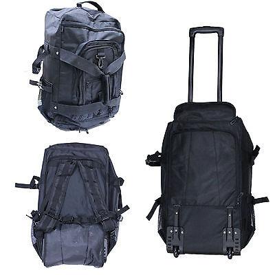 Kendo Bogu Rolling Backpack Wheels Back Panel Shoulder Straps 3 Front Pockets GR