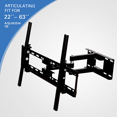 """22""""-63"""" Articulating Swivel Tilt Flat LCD LED Plasma TV Wall Mount Bracket"""