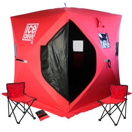 Portable Pop Up Shelters : Ice devil portable fishing shanty shelter pop up tent