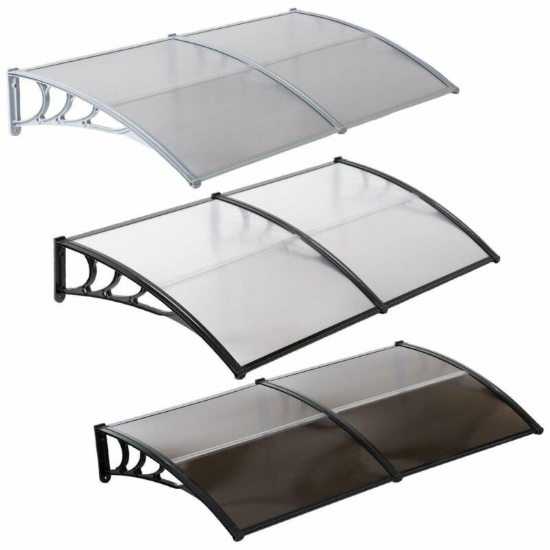 "80x40"" / 40"" x 40"" Door Window Outdoor Awning PC Hollow Sheet Sun Shade Cover"