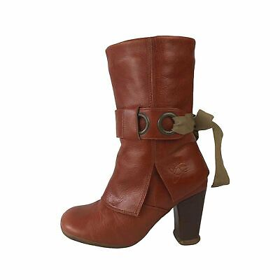 John Fluevog Tan leather calf length boots - sz 6