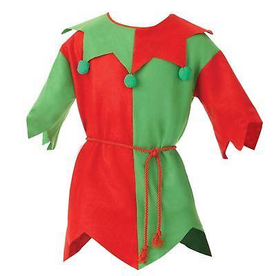 Herren Damen Elfen Tunika Kostüm Weihnachten Mittelgroß Weihnachtsmann - Großer Mann Kostüm