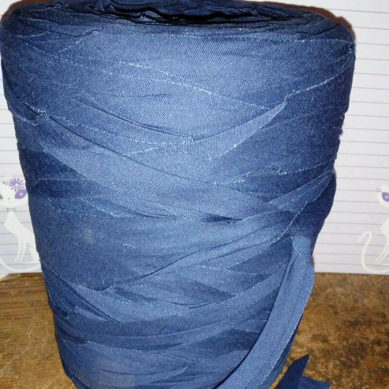 Rag Yarn Precut Fabric Strips 32oz Navy