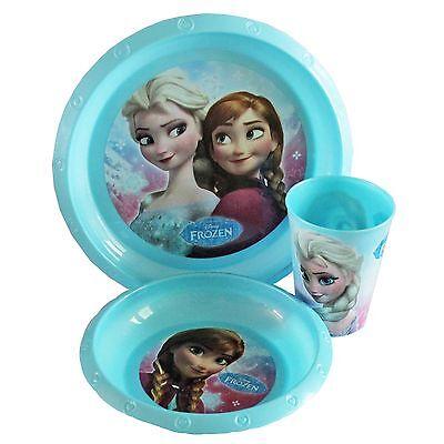 per bambini 3 pezzi ALIMENTAZIONE SET PIATTO SCODELLA E; Becher - Disney Frozen