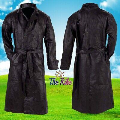 Italian Stone Genuine Leather Long Trench Coat Winter jacket Giovanni Navarre®