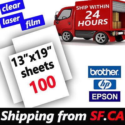 13 x 19,Transparency Laser Printer Film Paper Silk Screen Printing 100 sheets ()